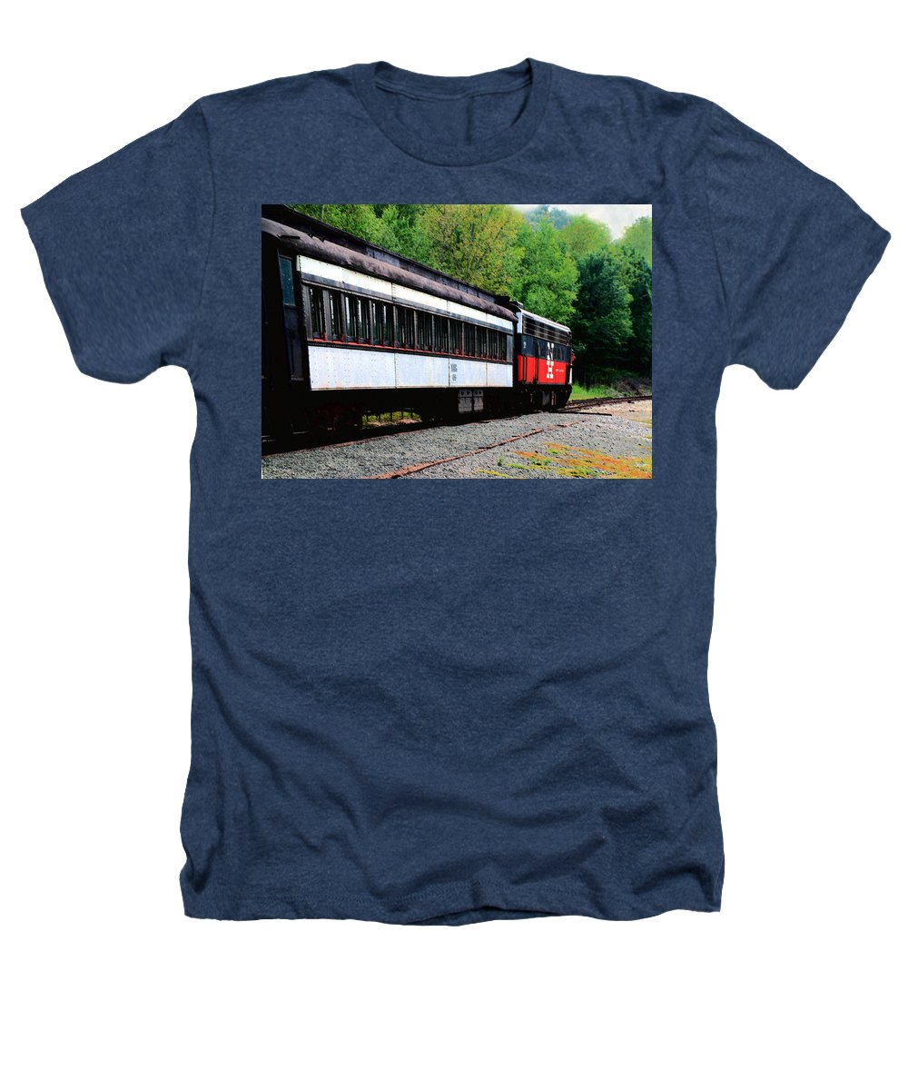 Train Heathers T-Shirt featuring the photograph Chugging Along by RC DeWinter