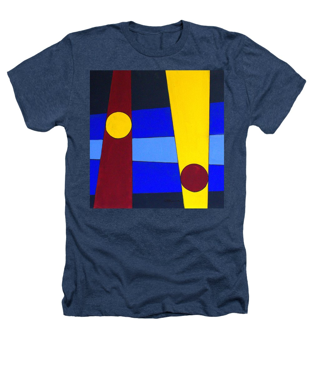 Abstract Heathers T-Shirt featuring the painting Circles Lines Color by J R Seymour