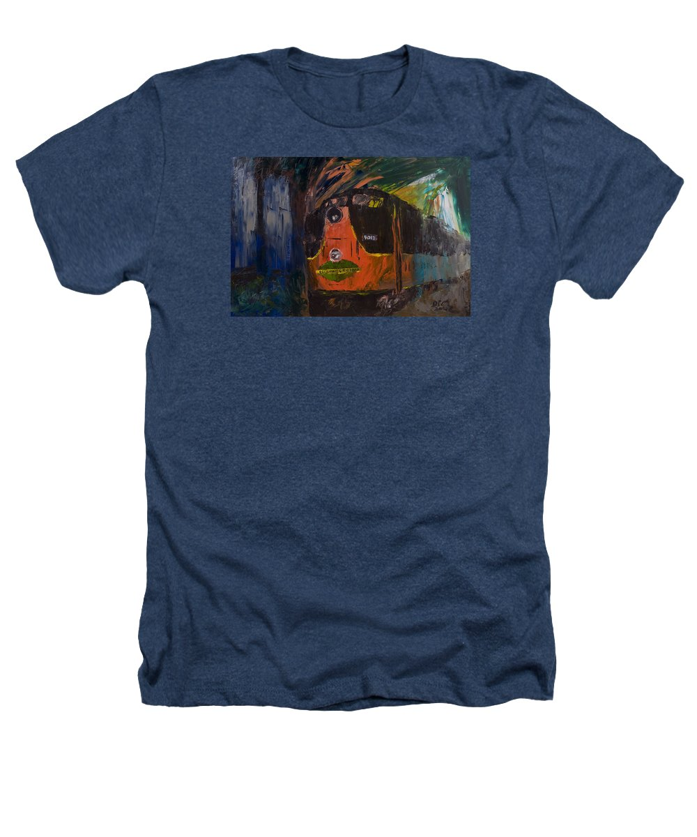 Train Heathers T-Shirt featuring the painting City Of New Orleans by David McGhee