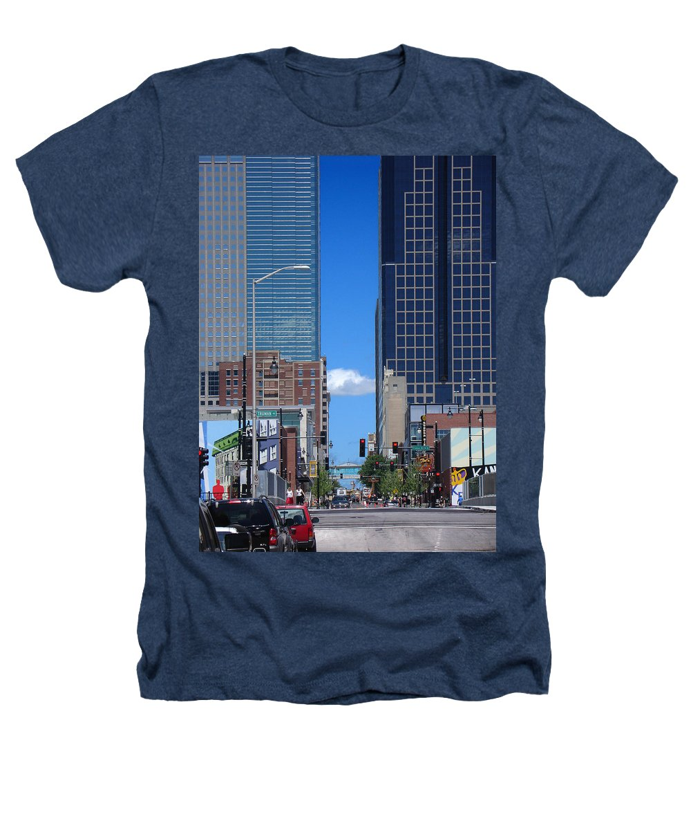 Kansas City Heathers T-Shirt featuring the photograph City Street Canyon by Steve Karol