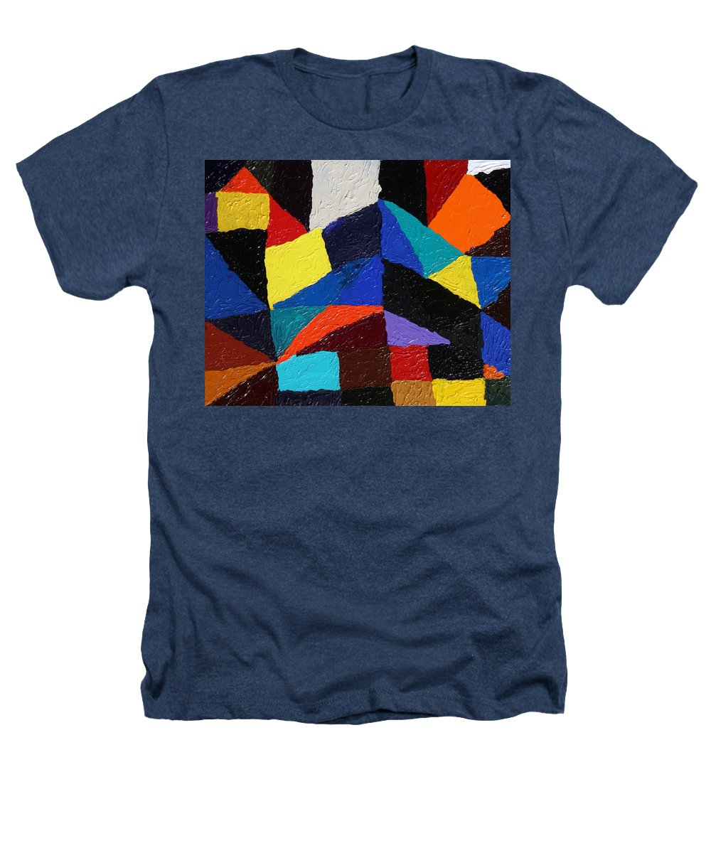 Fusionart Heathers T-Shirt featuring the painting Cityscape by Ralph White