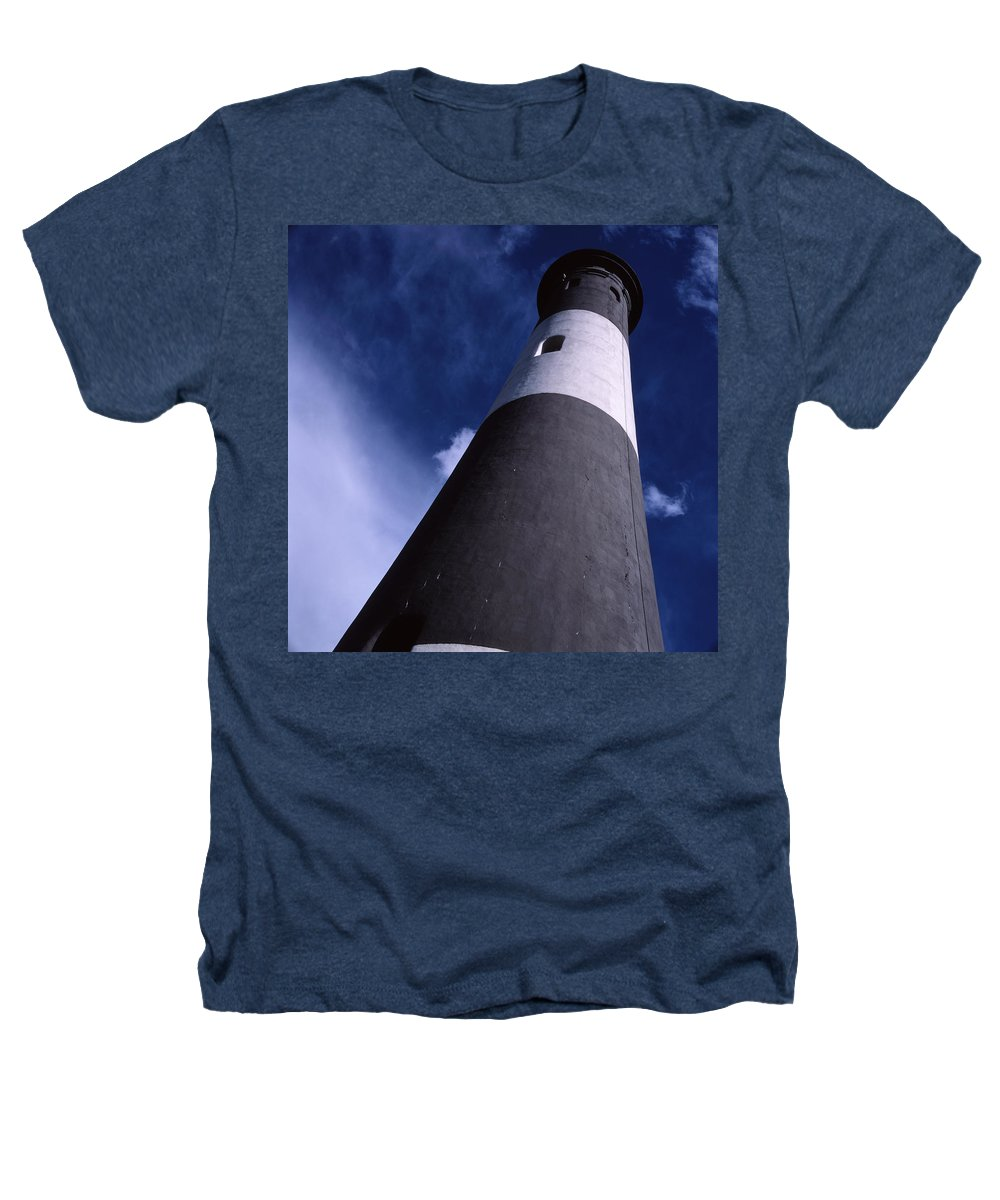 Landscape Lighthouse Fire Island Heathers T-Shirt featuring the photograph Cnrf0701 by Henry Butz