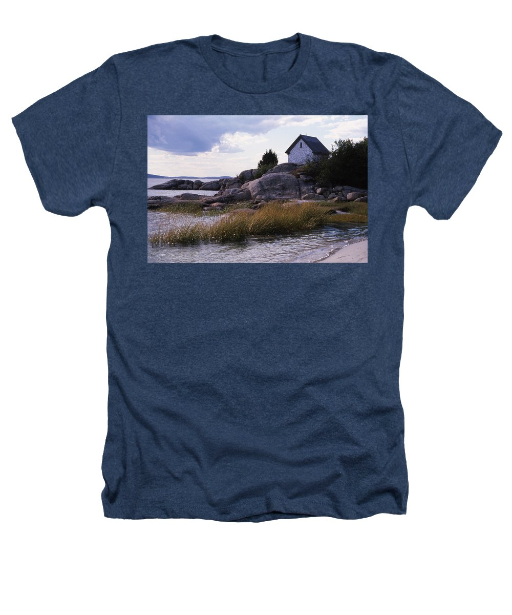 Landscape Beach Storm Heathers T-Shirt featuring the photograph Cnrf0909 by Henry Butz
