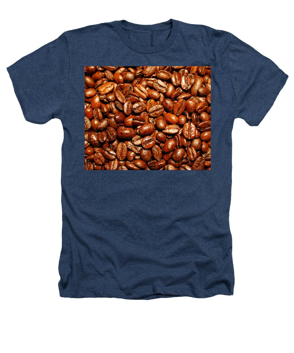 Coffee Heathers T-Shirt featuring the photograph Coffee Beans by Nancy Mueller