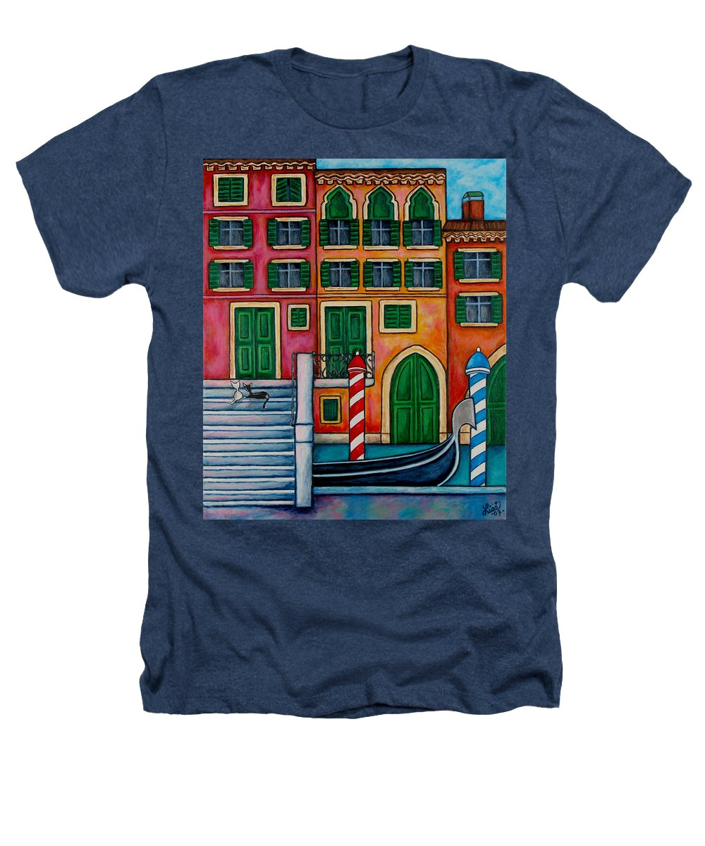 Venice Heathers T-Shirt featuring the painting Colours Of Venice by Lisa Lorenz