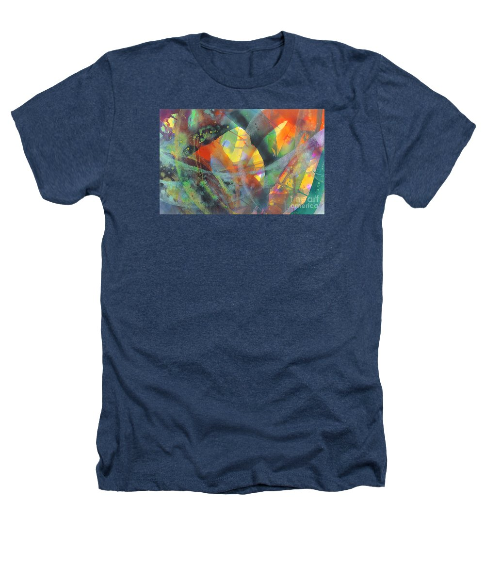 Abstract Heathers T-Shirt featuring the painting Connections by Lucy Arnold