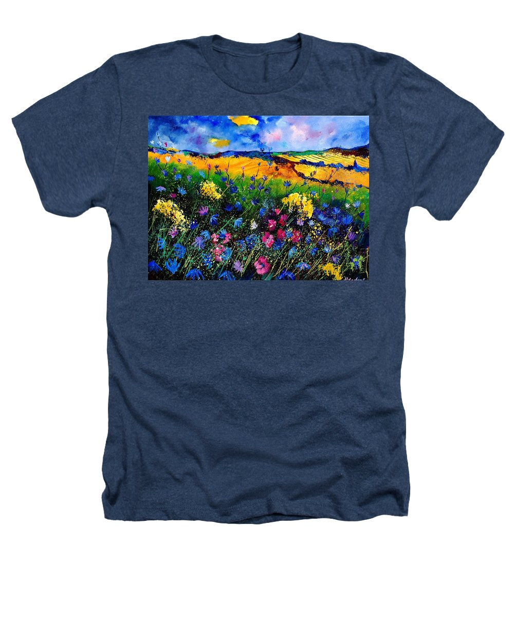 Flowers Heathers T-Shirt featuring the painting Cornflowers 680808 by Pol Ledent