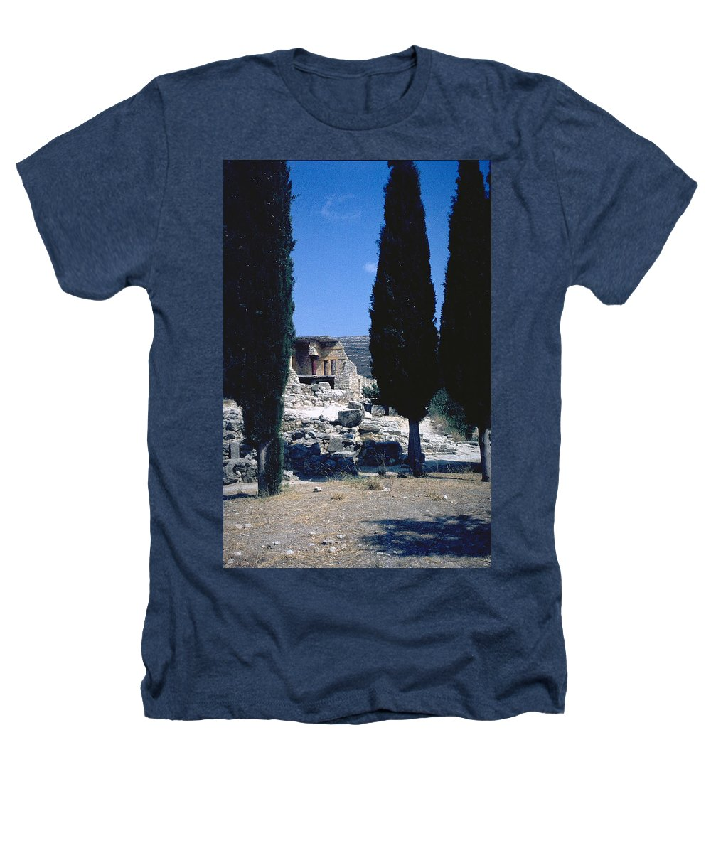 Crete Heathers T-Shirt featuring the photograph Crete by Flavia Westerwelle