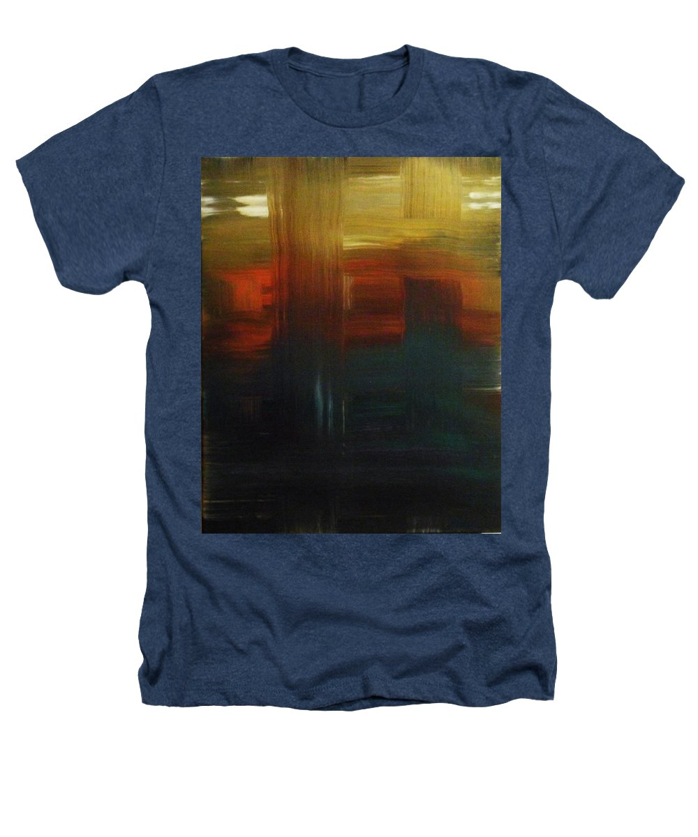 Abstract Heathers T-Shirt featuring the painting Crossroads by Todd Hoover