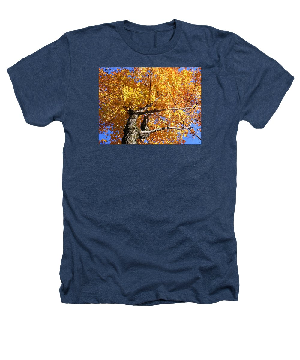 Trees Heathers T-Shirt featuring the photograph Crown Fire by Dave Martsolf
