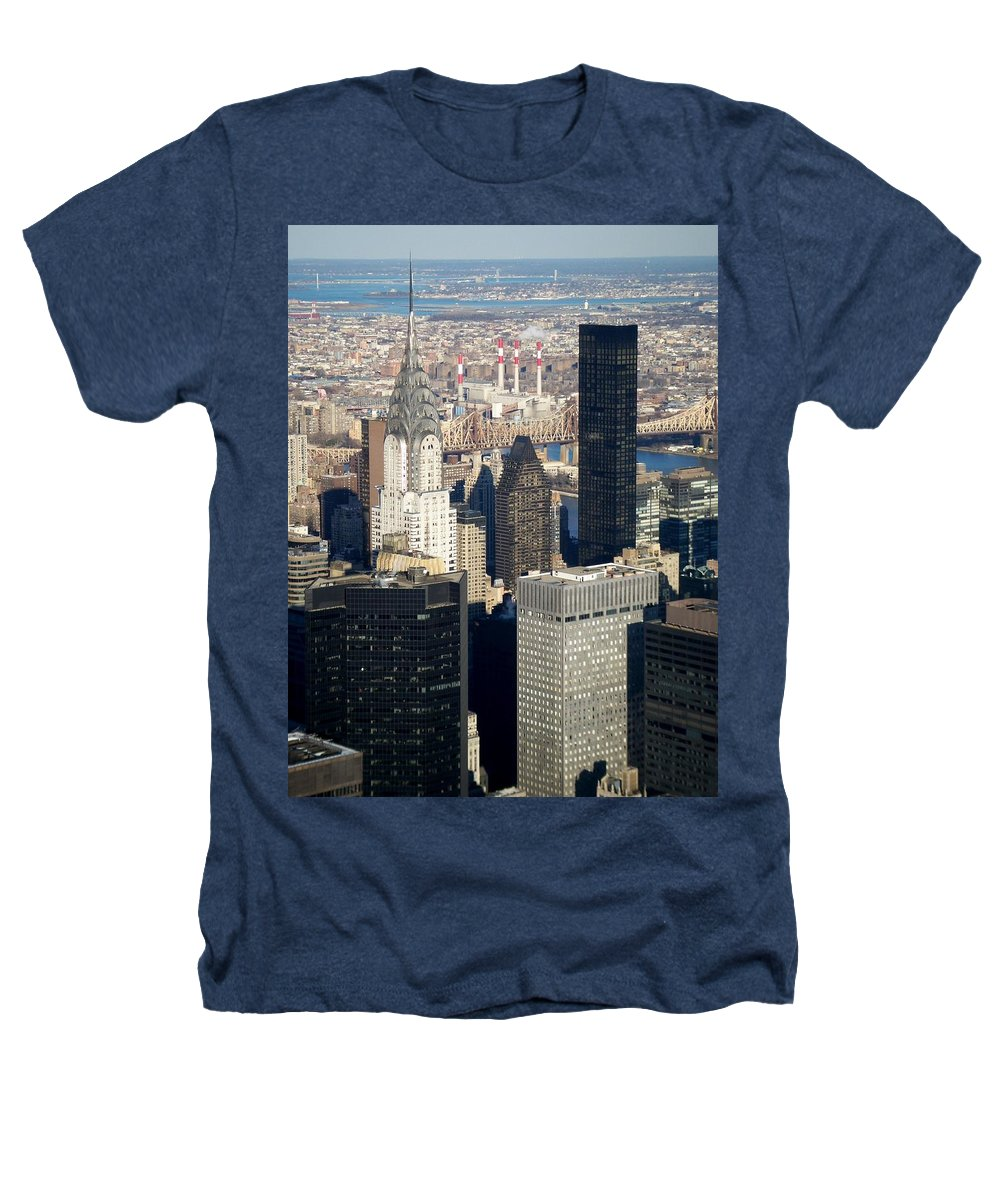 Crystler Building Heathers T-Shirt featuring the photograph Crystler Building by Anita Burgermeister