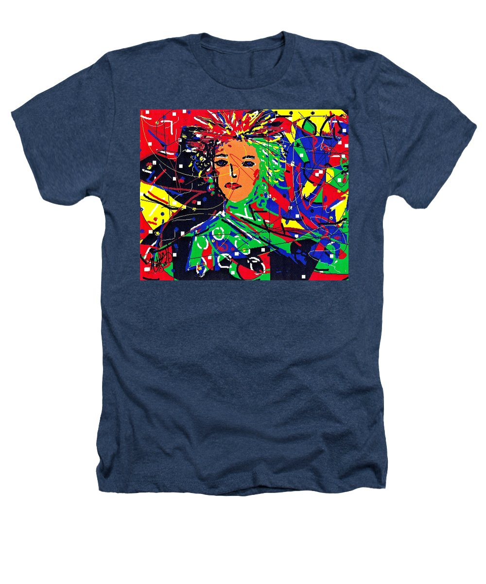 Woman Heathers T-Shirt featuring the digital art Cyberspace Goddess by Natalie Holland