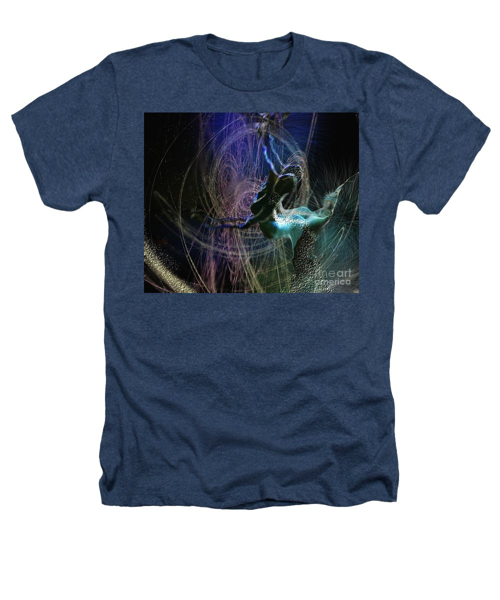 Nature Painting Heathers T-Shirt featuring the painting Dance Of The Universe by Miki De Goodaboom