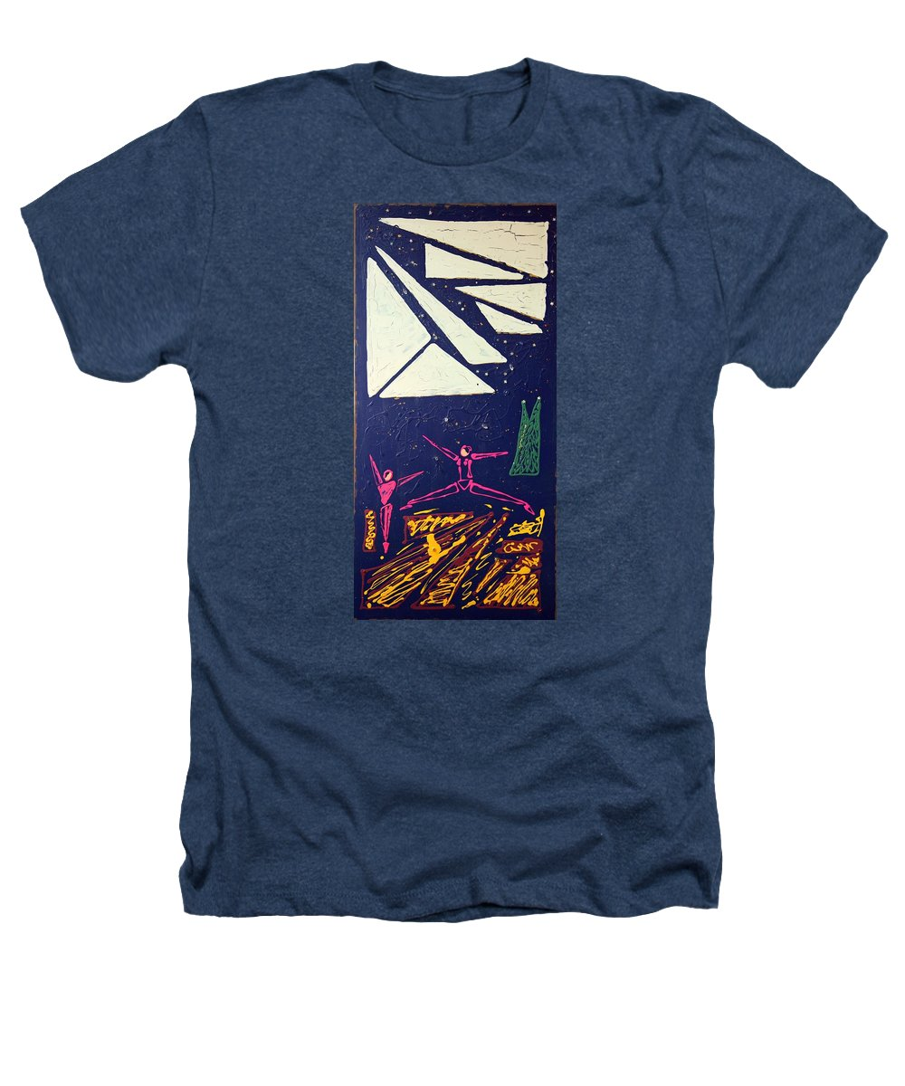 Dancers Heathers T-Shirt featuring the mixed media Dancing Under The Starry Skies by J R Seymour