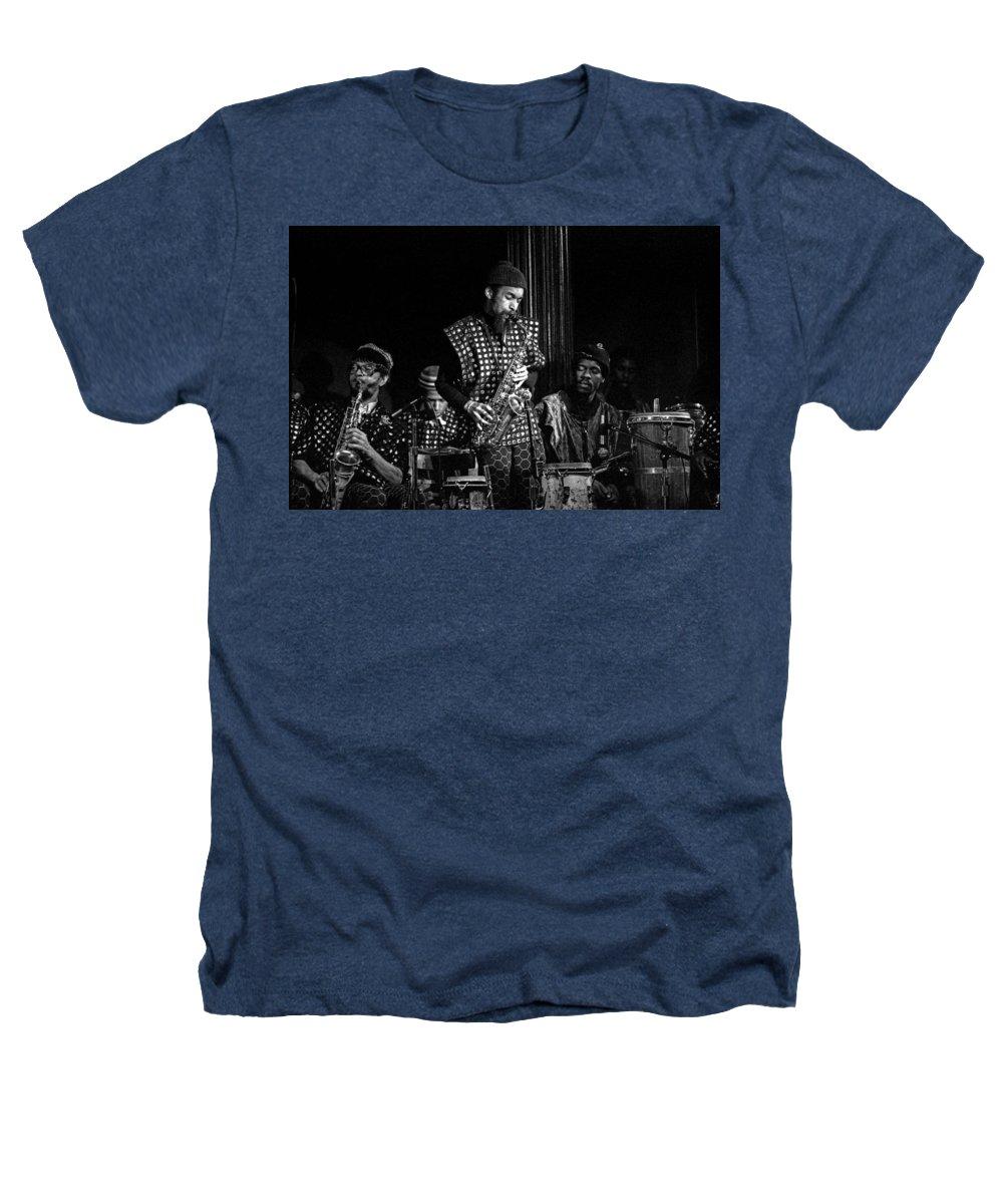 Jazz Heathers T-Shirt featuring the photograph Danny Davis With Sun Ra Arkestra by Lee Santa