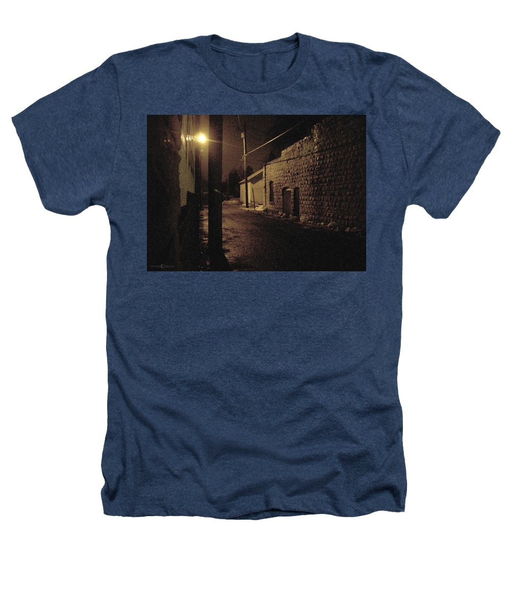 Alley Heathers T-Shirt featuring the photograph Dark Alley by Tim Nyberg