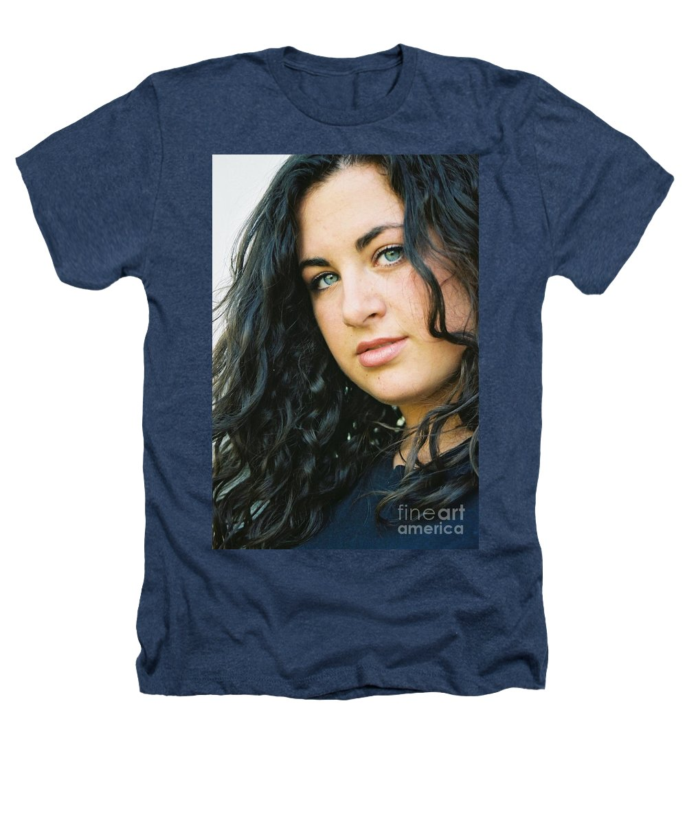 Blue Eyes Heathers T-Shirt featuring the photograph Dark Beauty by Nadine Rippelmeyer