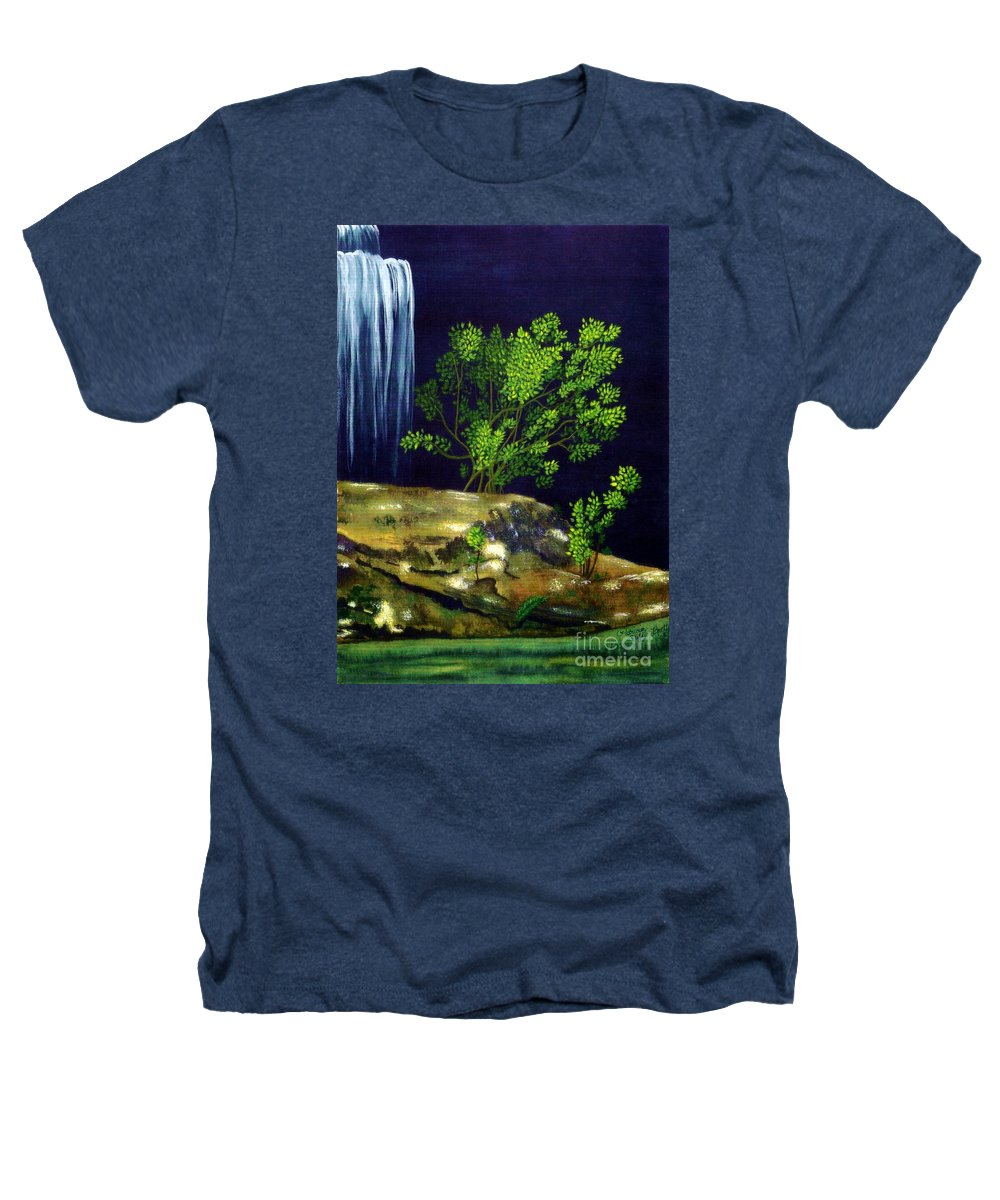 Fine Art Heathers T-Shirt featuring the painting Dark Waters by Patricia Griffin Brett