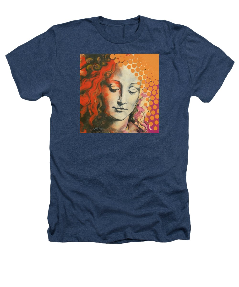 Figurative Heathers T-Shirt featuring the painting Davinci's Head by Jean Pierre Rousselet