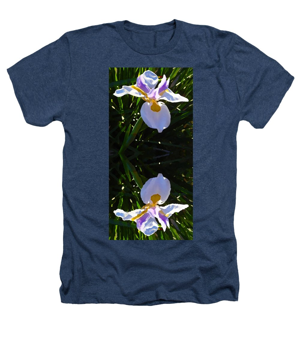 Daylily Heathers T-Shirt featuring the painting Day Lily Reflection by Amy Vangsgard