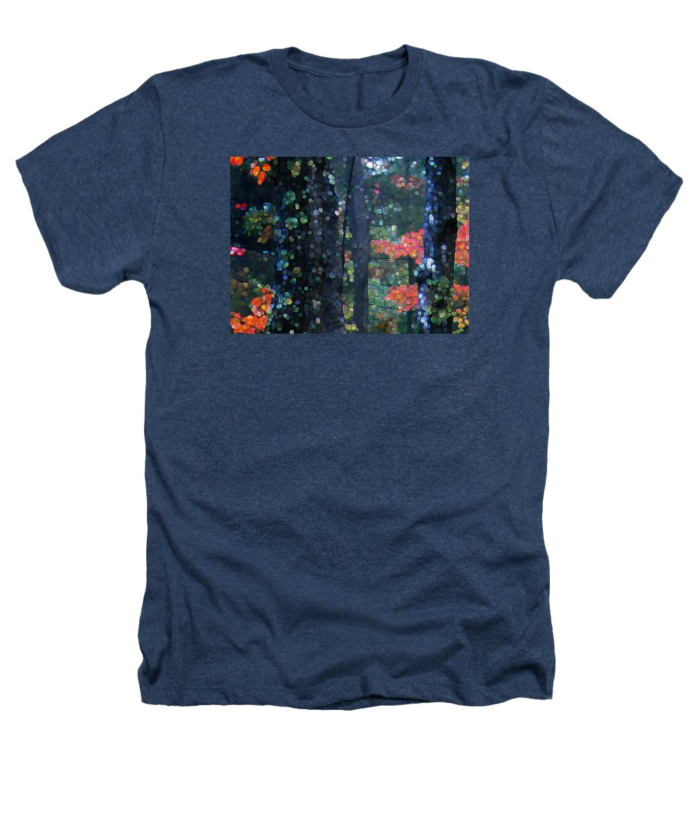 Landscape Heathers T-Shirt featuring the digital art Deep Woods Mystery by Dave Martsolf