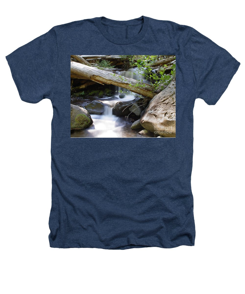 Creek Heathers T-Shirt featuring the photograph Deer Creek 03 by Peter Piatt