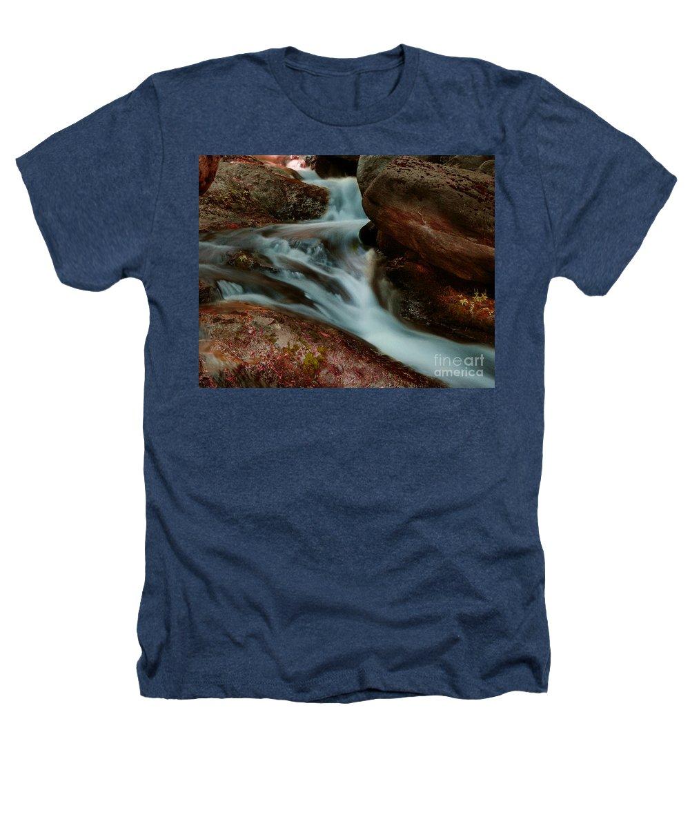 Creek Heathers T-Shirt featuring the photograph Deer Creek 04 by Peter Piatt