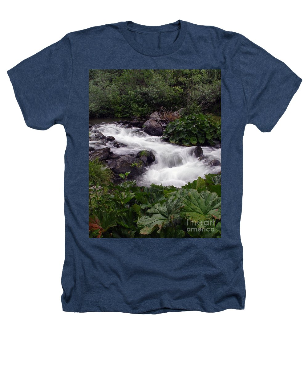 Creek Heathers T-Shirt featuring the photograph Deer Creek 07 by Peter Piatt