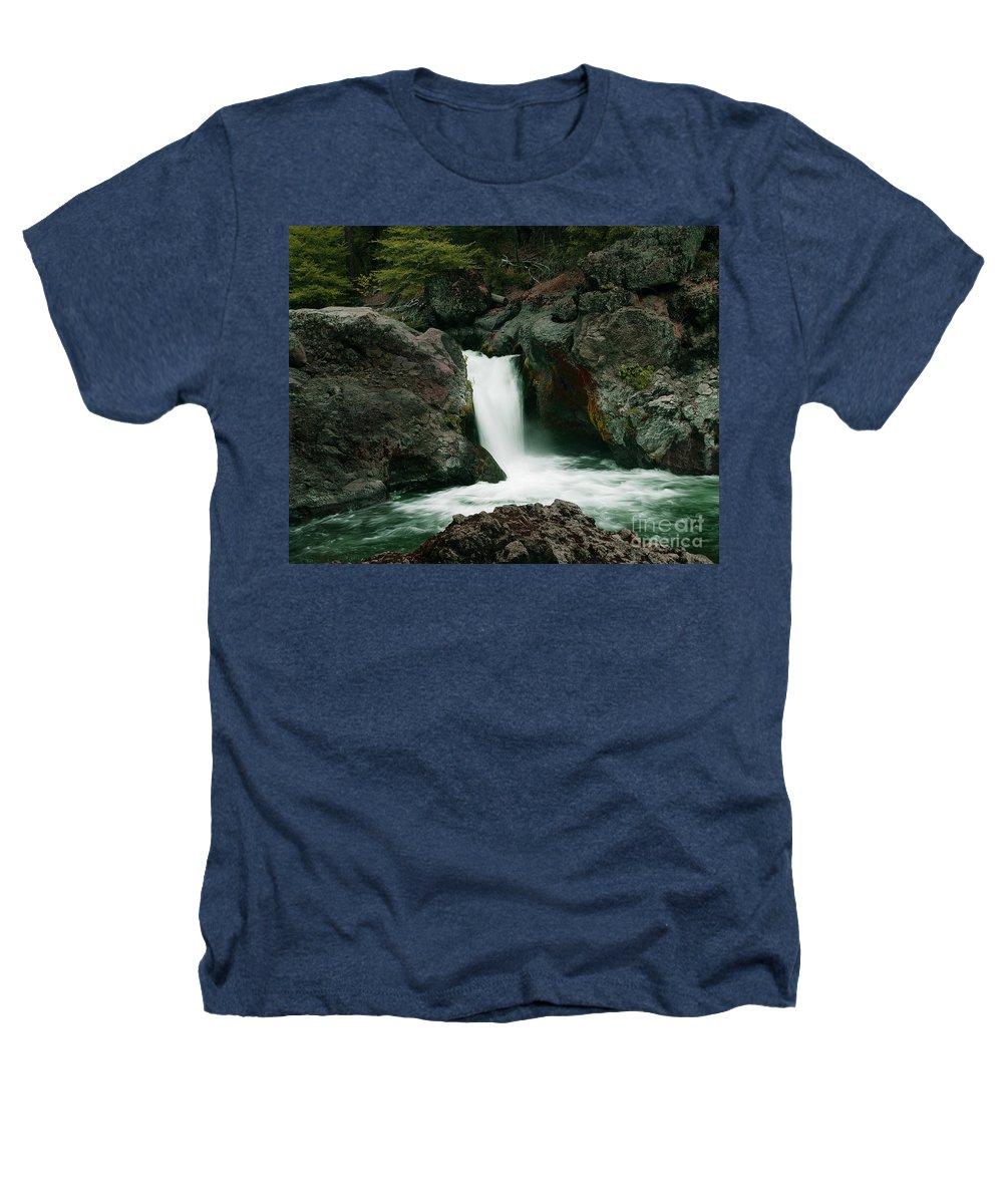 Creek Heathers T-Shirt featuring the photograph Deer Creek Falls by Peter Piatt