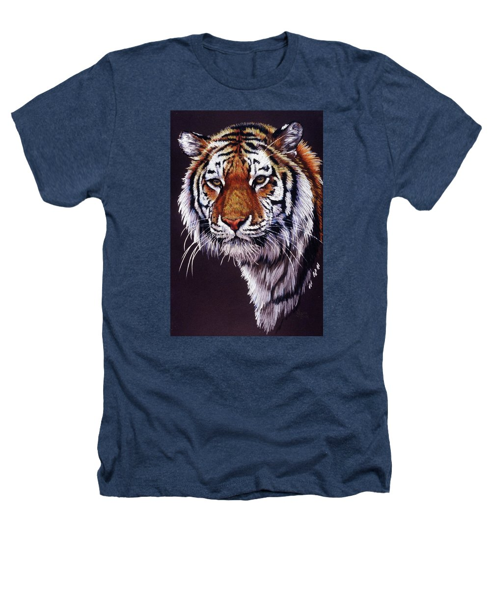 Tiger Heathers T-Shirt featuring the drawing Desperado by Barbara Keith