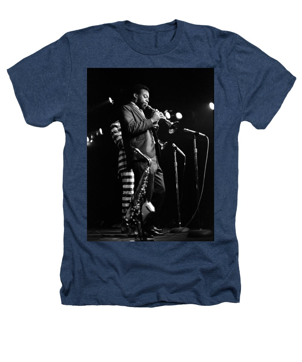 Ornette Coleman Heathers T-Shirt featuring the photograph Dewey Redman On Musette by Lee Santa