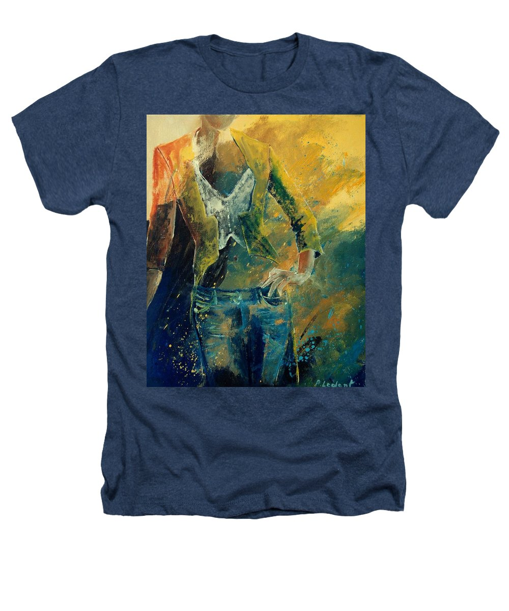 Woman Girl Fashion Heathers T-Shirt featuring the painting Dinner Jacket by Pol Ledent