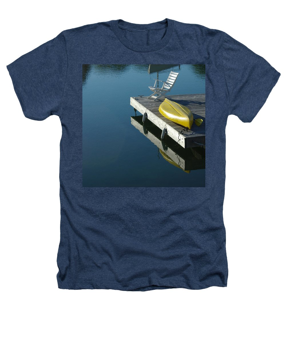 Landscape Nautical New England Kennebunkport Heathers T-Shirt featuring the photograph Dnre0609 by Henry Butz