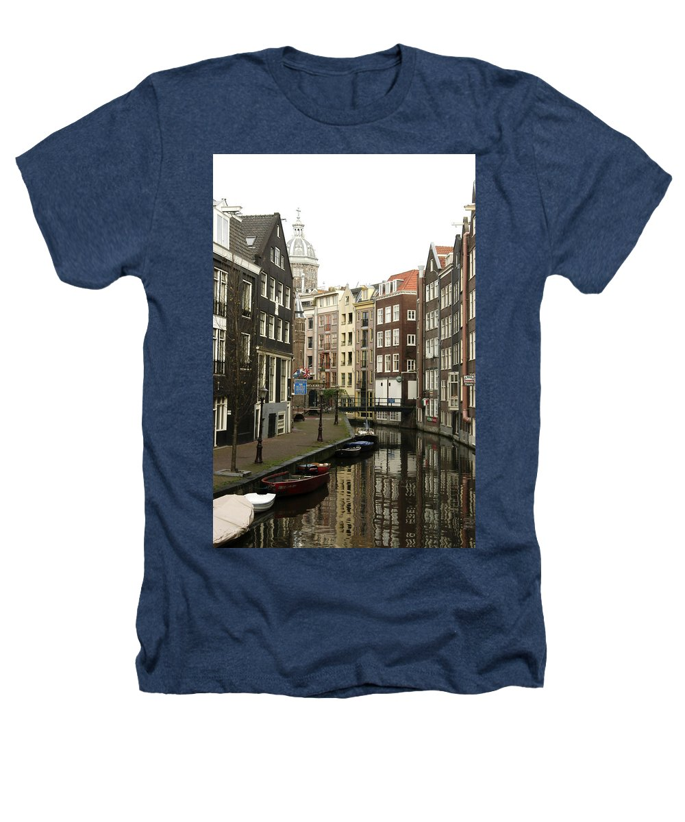 Landscape Amsterdam Red Light District Heathers T-Shirt featuring the photograph Dnrh1101 by Henry Butz