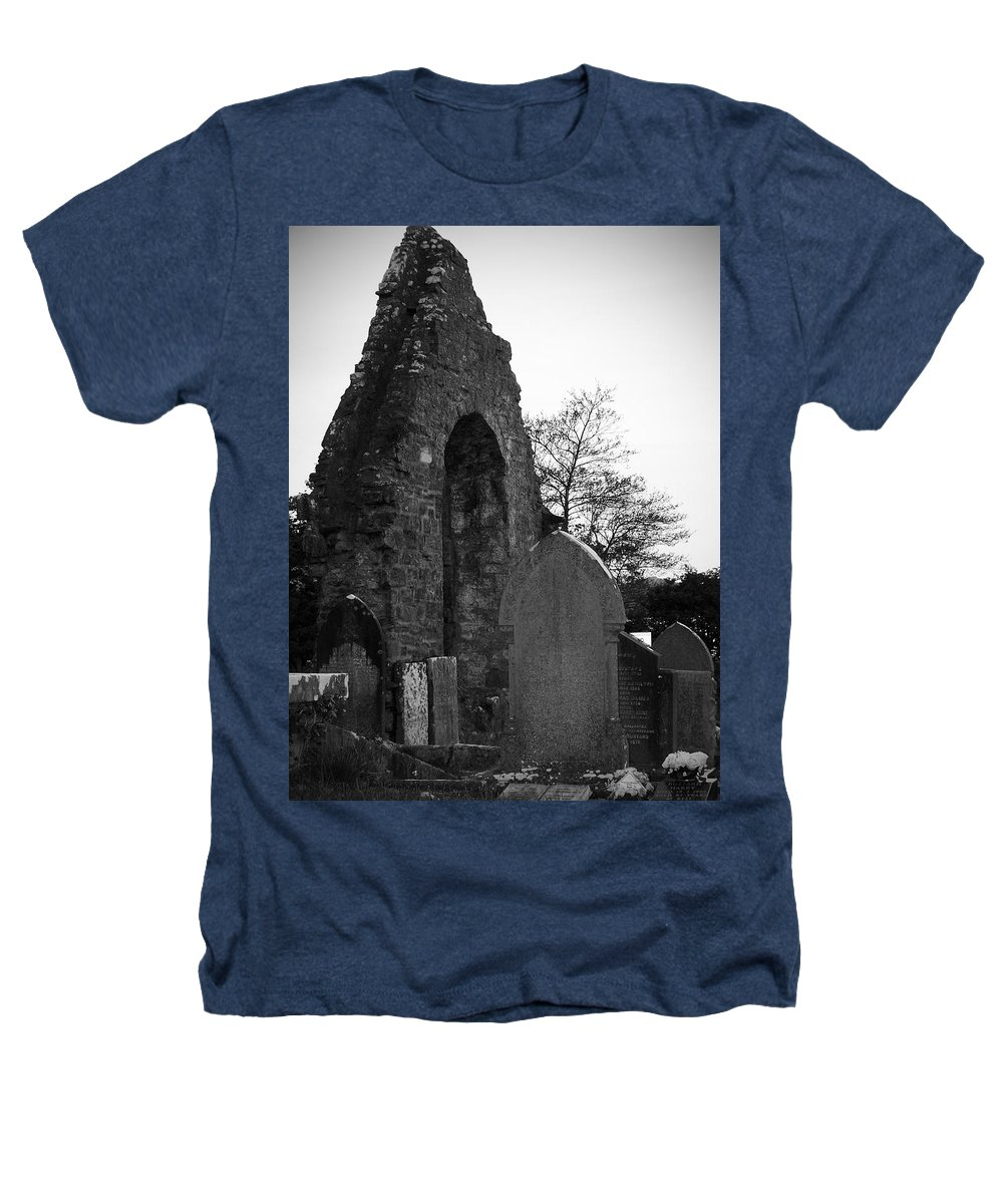 Irish Heathers T-Shirt featuring the photograph Donegal Abbey Ruins Donegal Ireland by Teresa Mucha