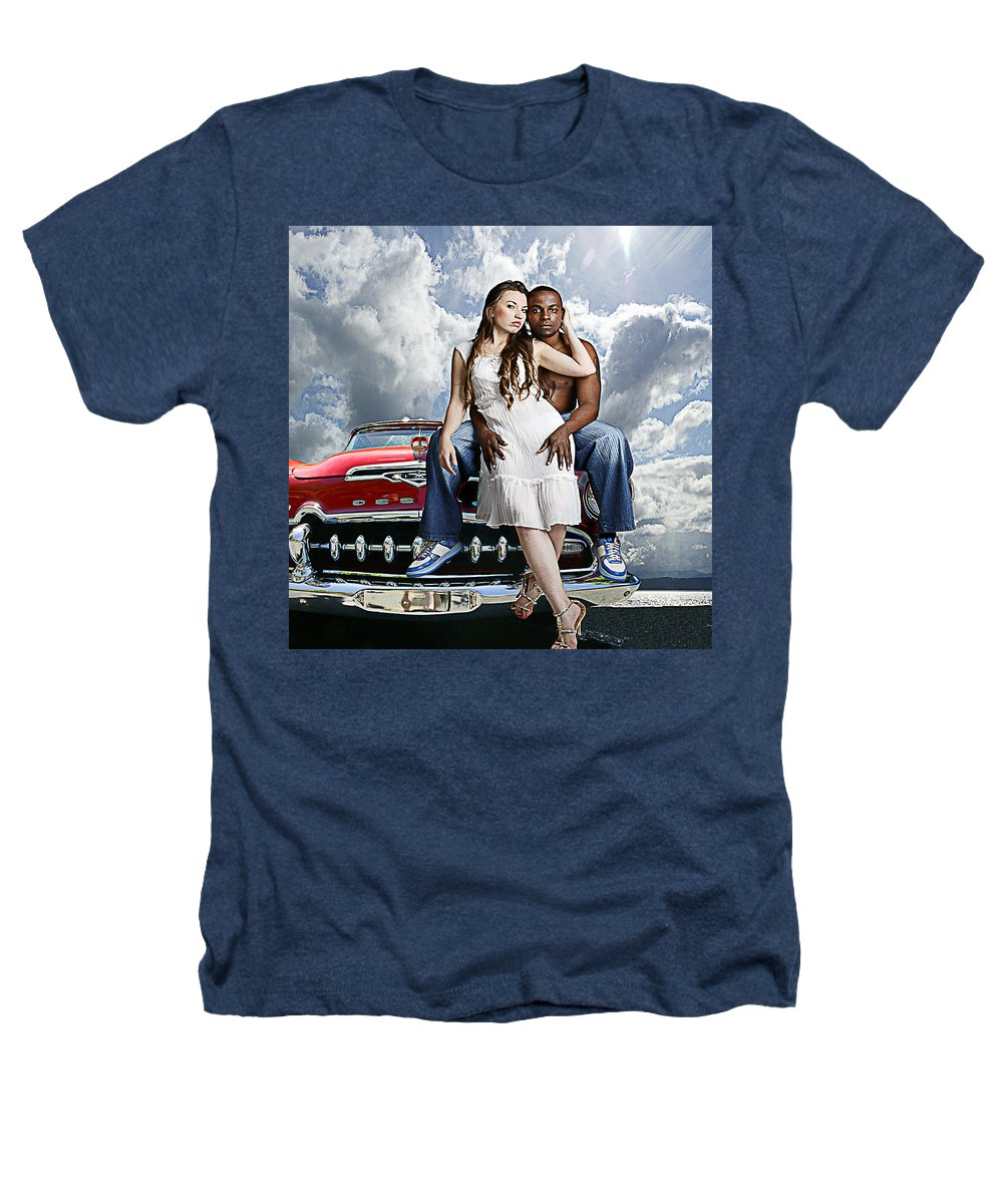 Auto Heathers T-Shirt featuring the photograph Downtown by Jeff Burgess