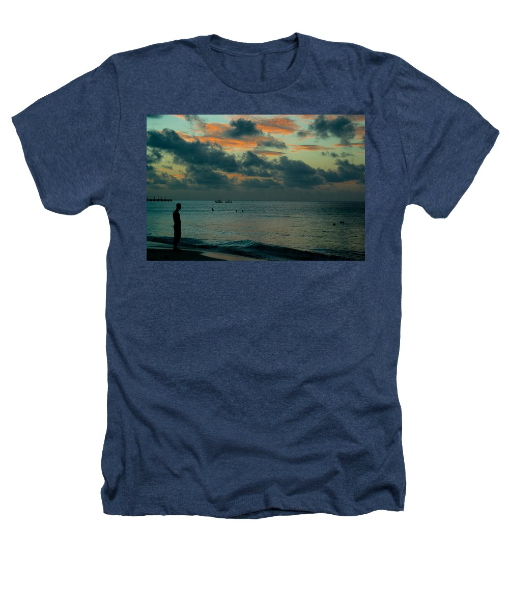 Sea Heathers T-Shirt featuring the photograph Early Morning Sea by Douglas Barnett