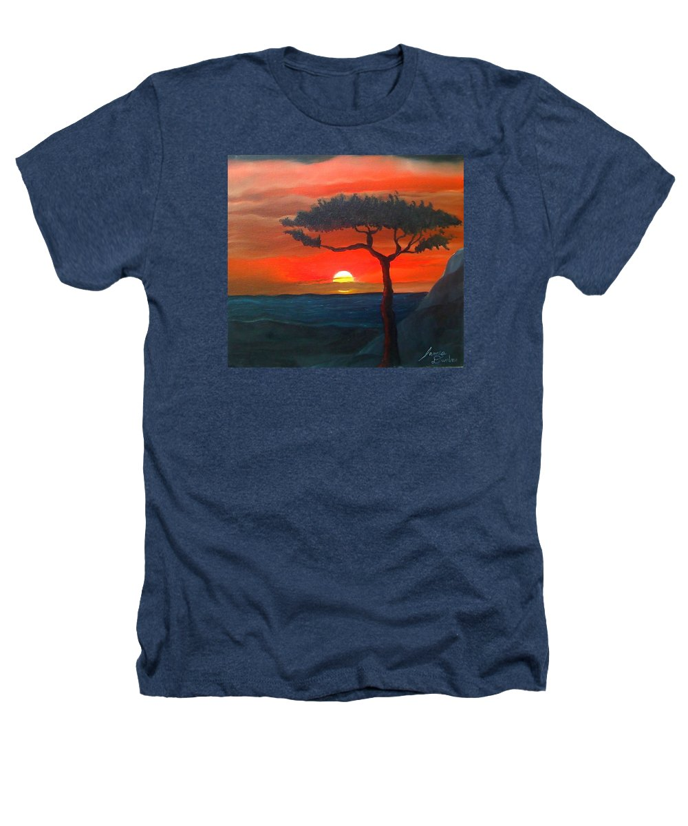 Africa! Heathers T-Shirt featuring the painting East African Sunset by Portland Art Creations