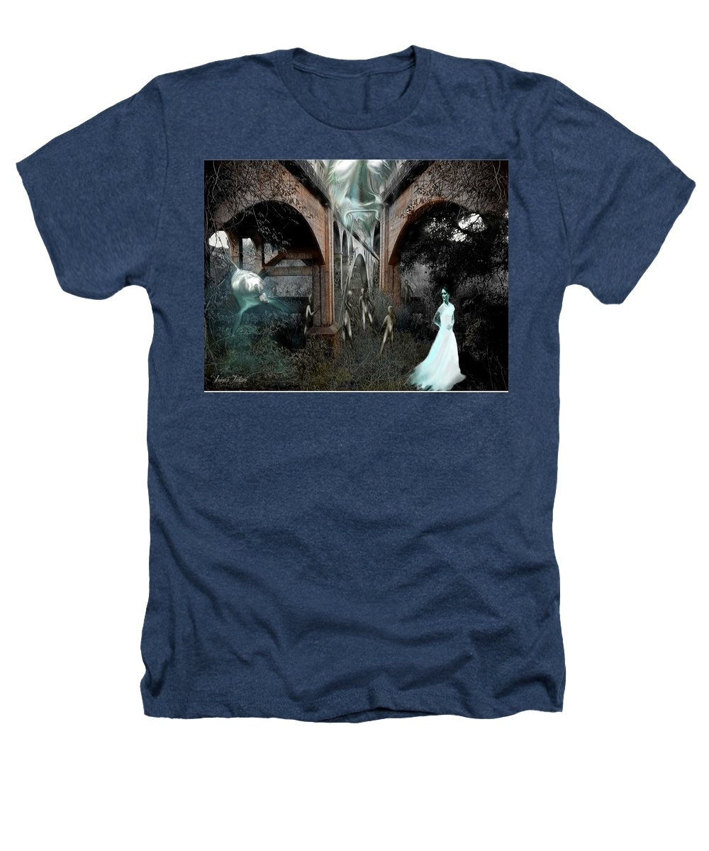 Eden Surreal Creatures Bridges Dreaming Heathers T-Shirt featuring the digital art Eden by Veronica Jackson