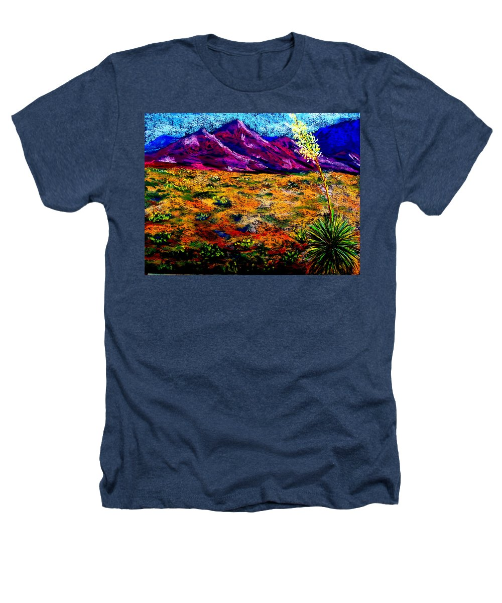 Yucca Heathers T-Shirt featuring the painting El Paso by Melinda Etzold