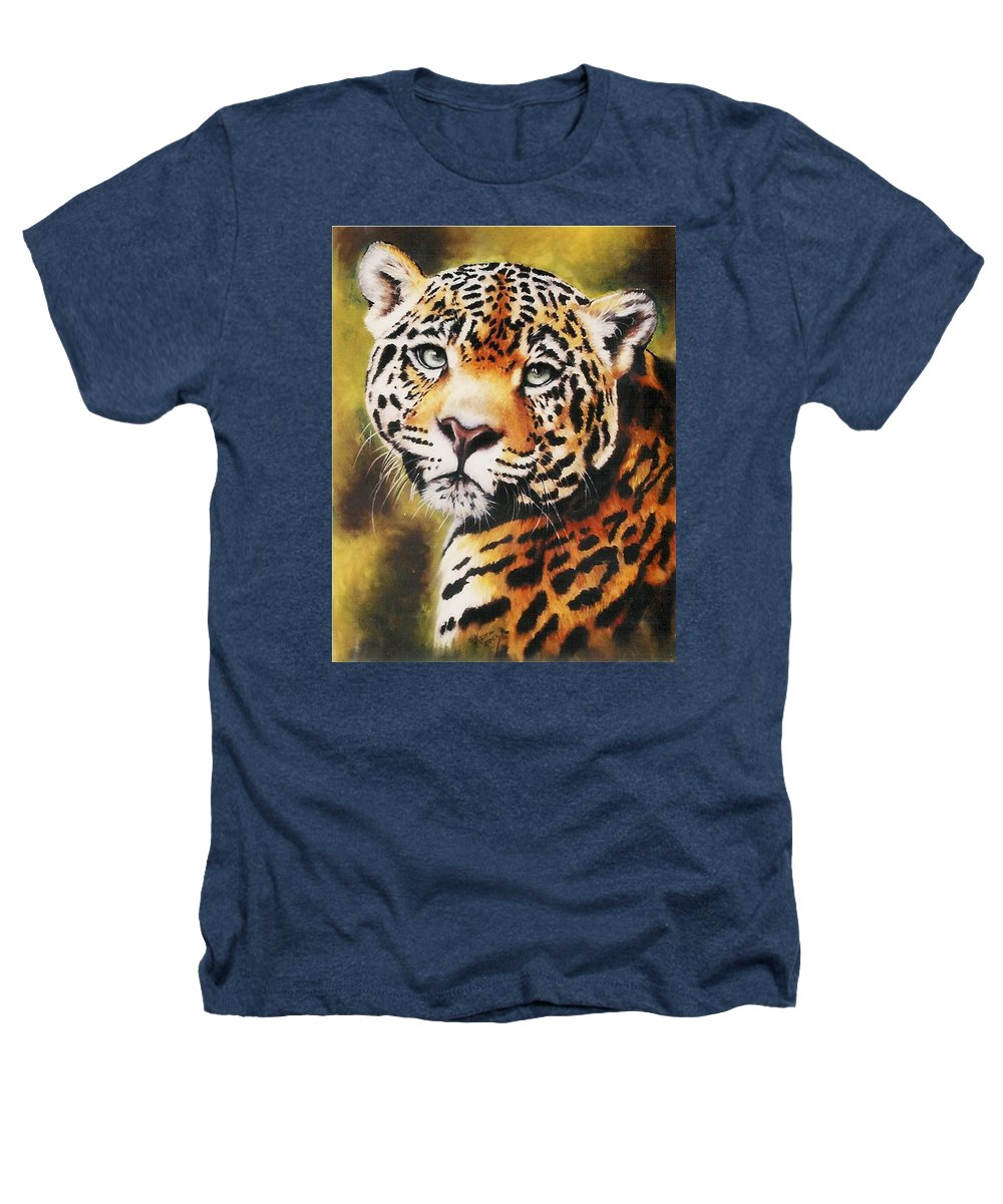 Jaguar Heathers T-Shirt featuring the pastel Enchantress by Barbara Keith
