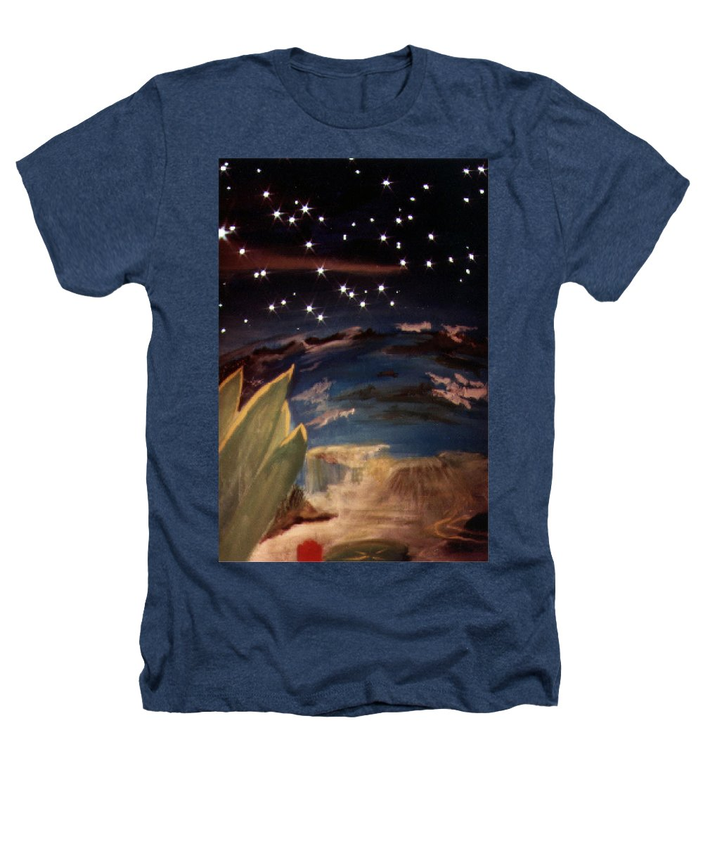 Surreal Heathers T-Shirt featuring the painting Enter My Dream by Steve Karol