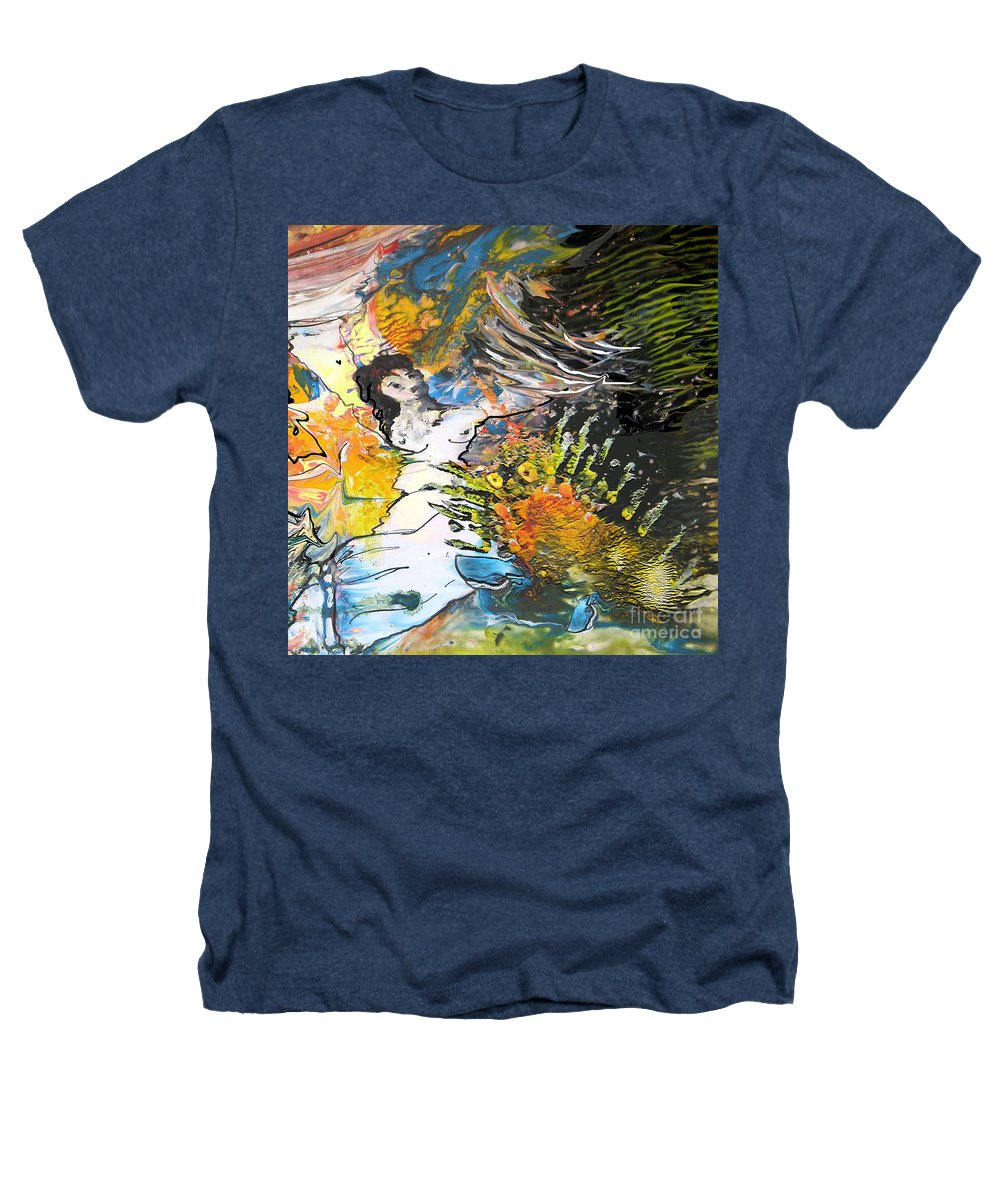 Miki Heathers T-Shirt featuring the painting Erotype 07 2 by Miki De Goodaboom