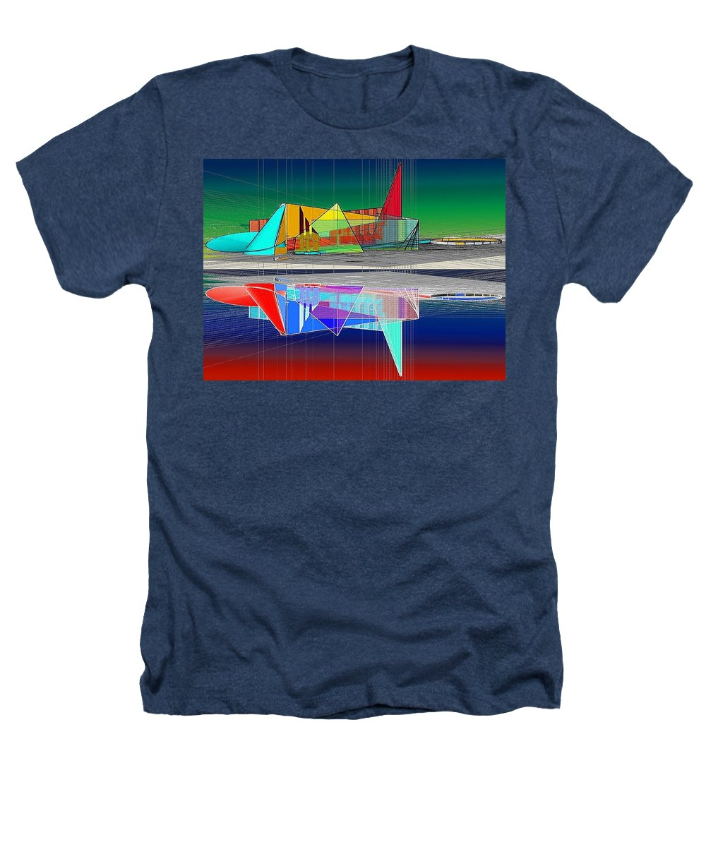 Cathedral Heathers T-Shirt featuring the digital art Ethereal Reflections by Don Quackenbush