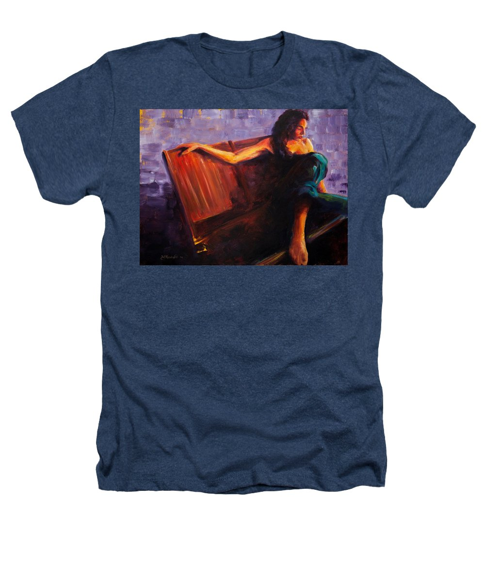 Figure Heathers T-Shirt featuring the painting Even Though by Jason Reinhardt