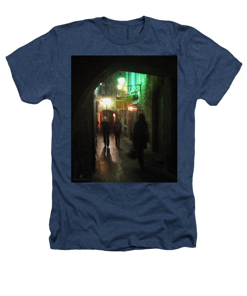 Ireland Heathers T-Shirt featuring the photograph Evening Shoppers by Tim Nyberg