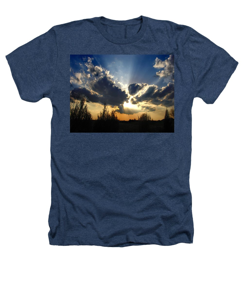 Landscape Heathers T-Shirt featuring the photograph Evening Sky by Steve Karol