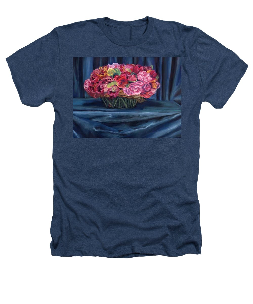 Flowers Heathers T-Shirt featuring the painting Fabric And Flowers by Sharon E Allen
