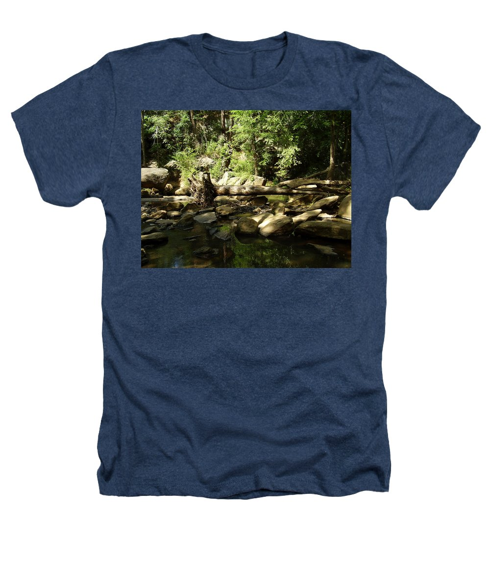 Falls Park Heathers T-Shirt featuring the photograph Falls Park by Flavia Westerwelle