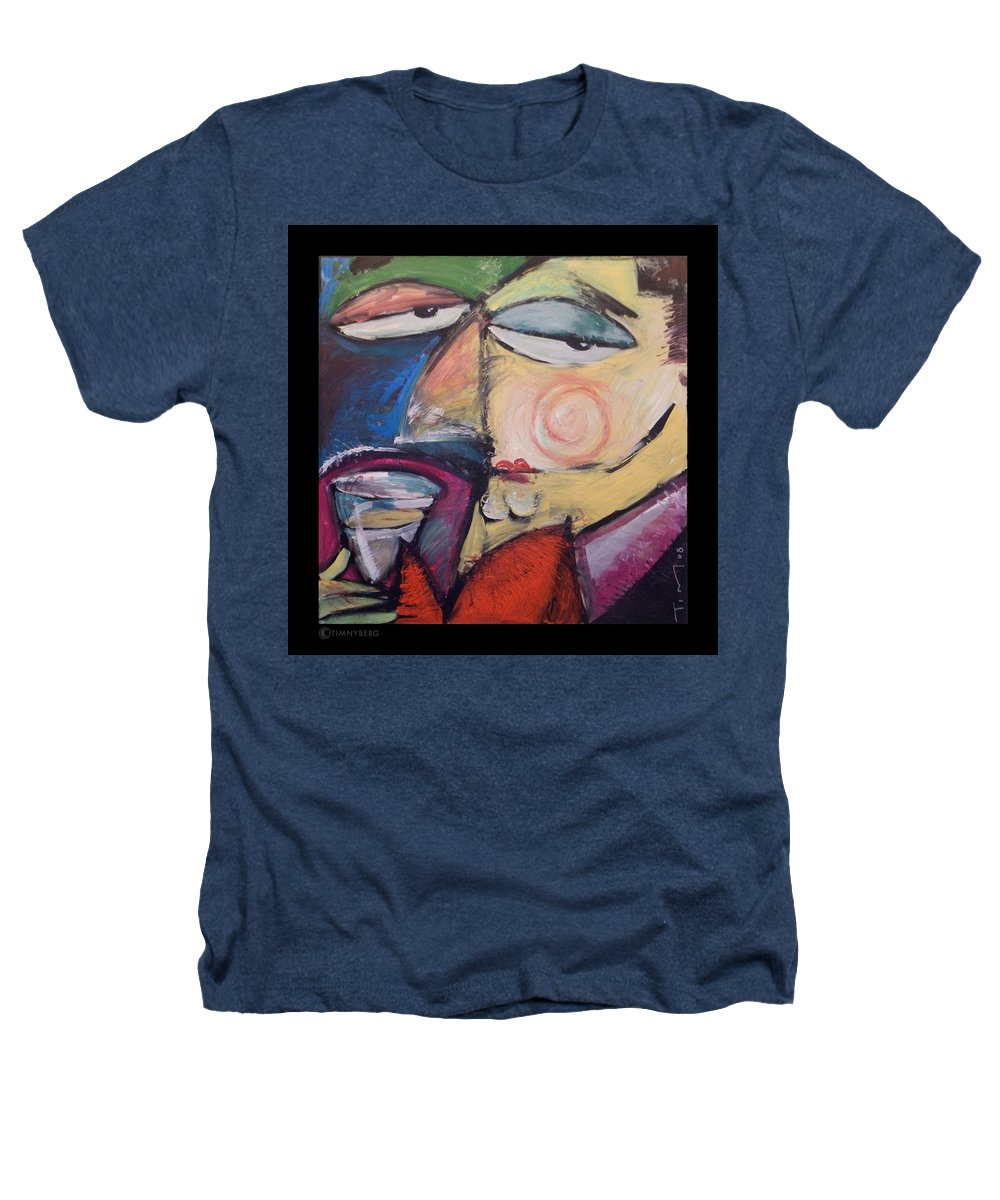 Humor Heathers T-Shirt featuring the painting Fancy Man At Art Opening by Tim Nyberg
